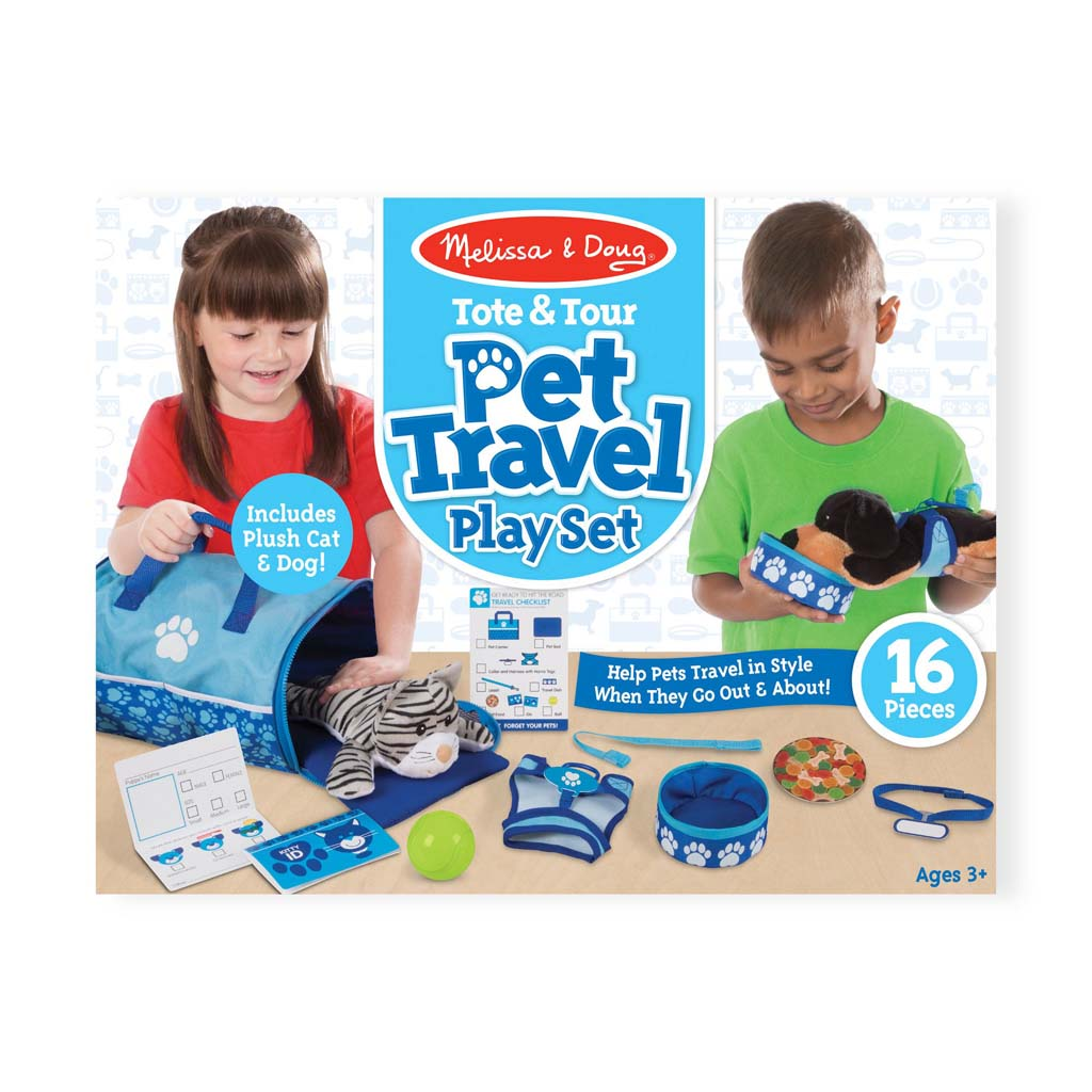 Melissa and Doug Tote and Tour Pet Travel Play Set