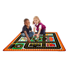 Melissa and Doug Round the City Rescue Rug & Vehicle Set