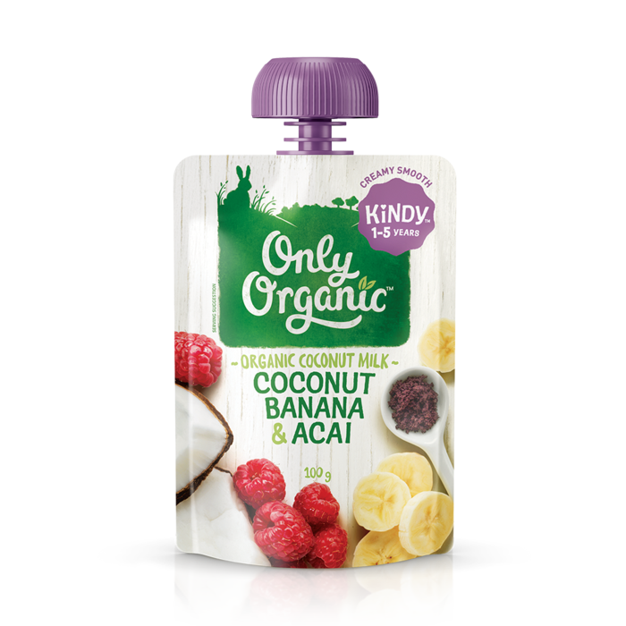 Only Organic Coconut, Banana & Acai Dessert Pouch