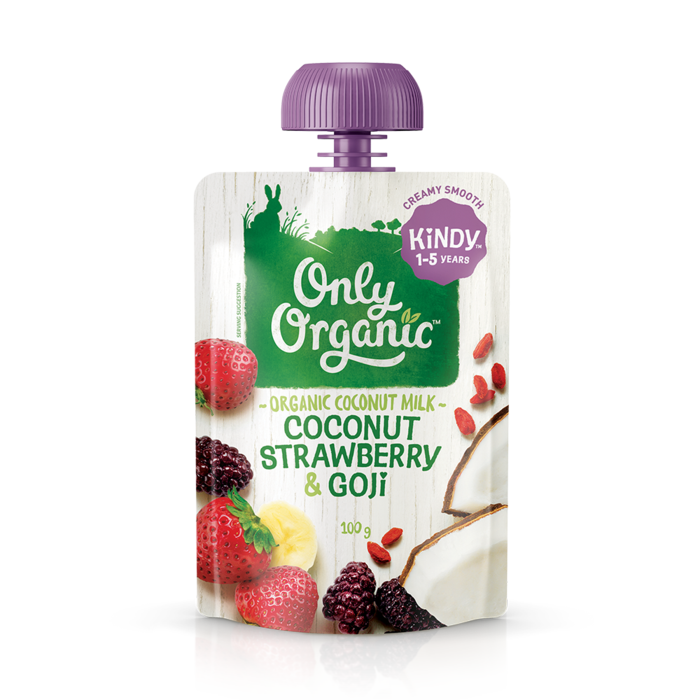 Only Organic Coconut, Strawberry & Goji Dessert Pouch