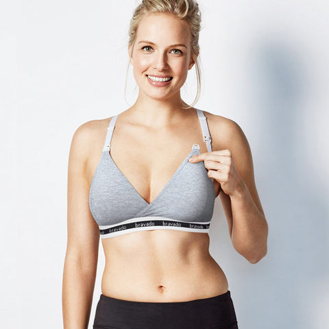 Bravado Original Nursing Bra Dove Heather