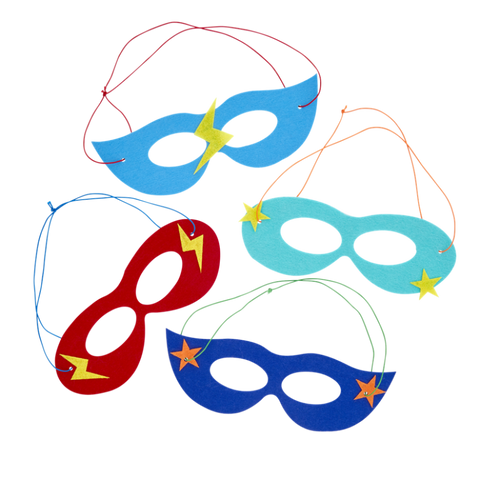 Rice Felt Masks in Kids Superheld Hero