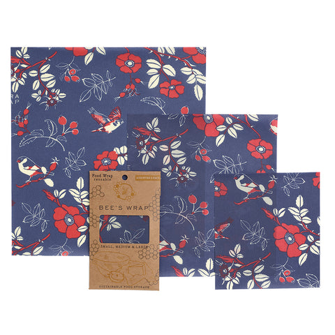 Bee's Wrap Botanical Blue Assorted 3 Pack
