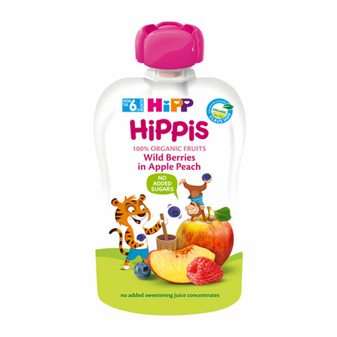 HiPP Organic Wild Berries in Apple Peach Pouch