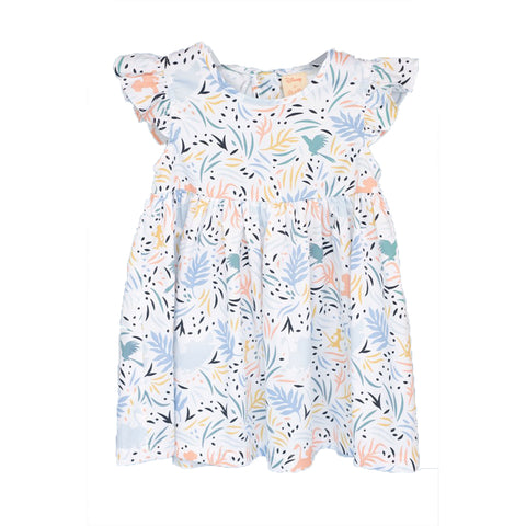 Elly Piper Dress - White Simba