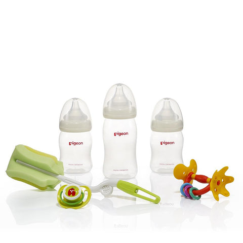 Pigeon Newborn Starter Kit (with SofTouch™ Peristaltic PP Bottles)