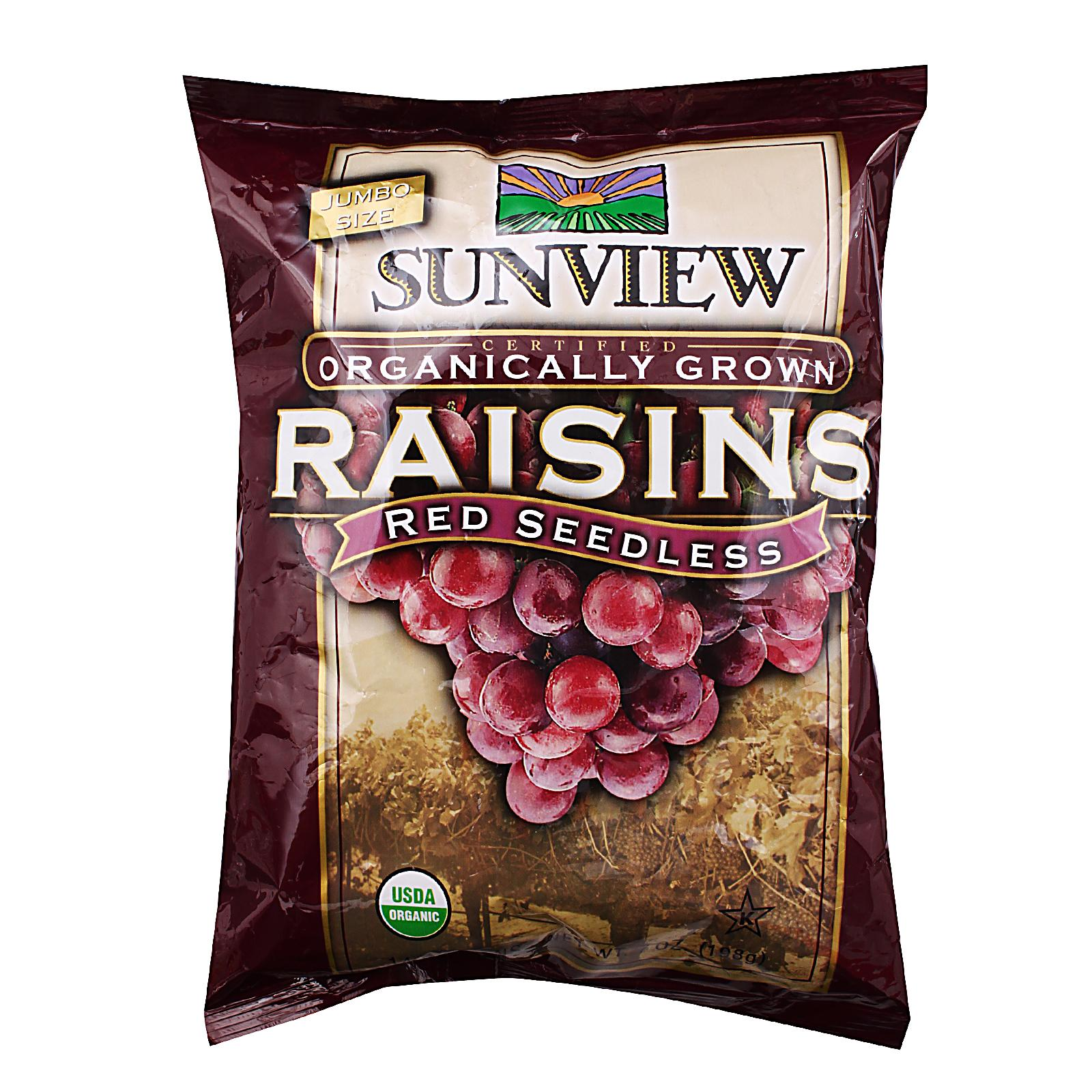 Sunview Organic Red Raisins packet