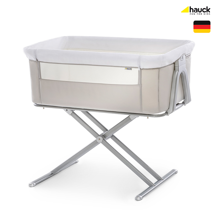 Hauck Face to Me Bedside Cot (5 Adjustable Heights)