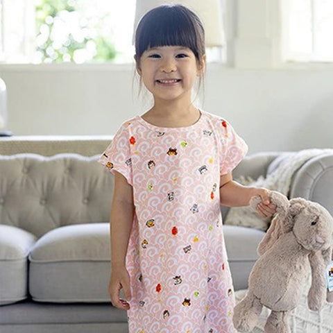 Elly Girl's Nightgown - Pink Wave Tsum Tsums
