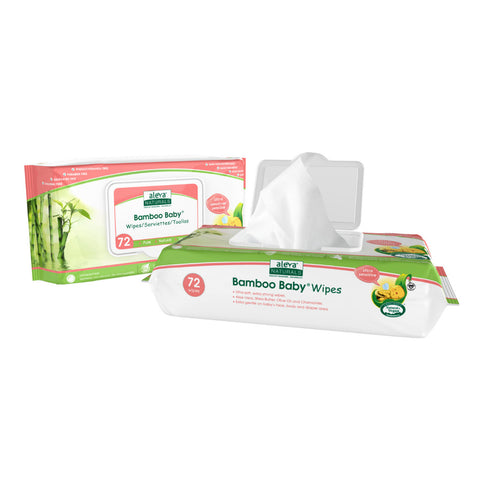 Aleva Naturals Bamboo Baby Sensitive Wipes 72ct