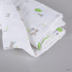 Elly Organic Cotton Swaddle - Thumper in the Garden
