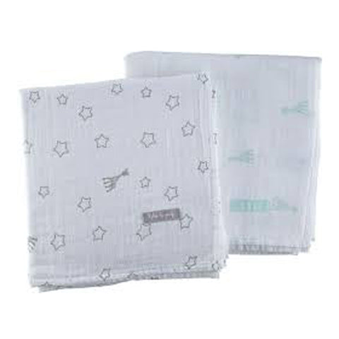 Sophie La Giraffe Set of 2 Large Swaddles