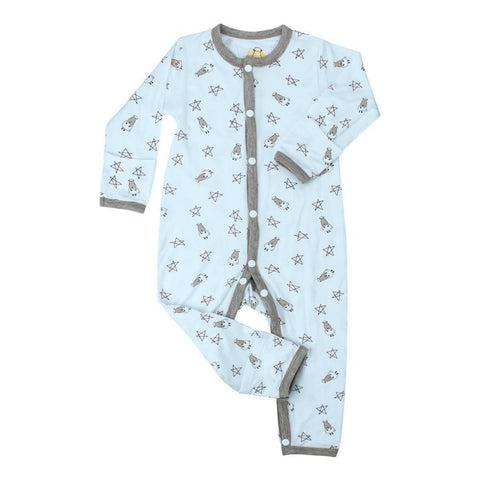 Baa Baa Sheepz Romper Small Star - Blue