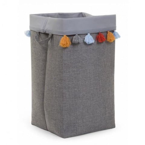 Childhome Dark Grey Canvas Box with Tassels