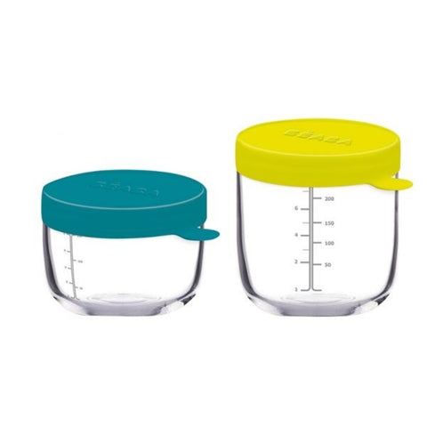 Beaba Set of 2 Conservation Jars In Quality Glass