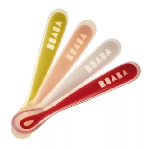 Beaba Ergonomic 1st Age Silicone Spoons Set of 4