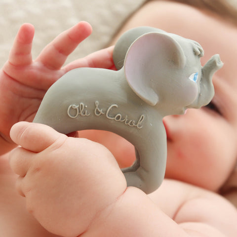 Oli&Carol Nelly the Elephant Chewable Bracelets Teether