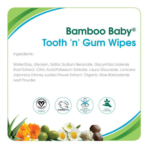 Aleva Naturals Bamboo Baby Tooth 'n' Gum Wipes