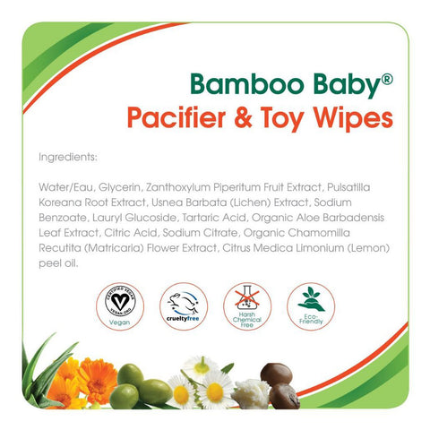Aleva Naturals Bamboo Baby Pacifier & Toy Wipes 30ct