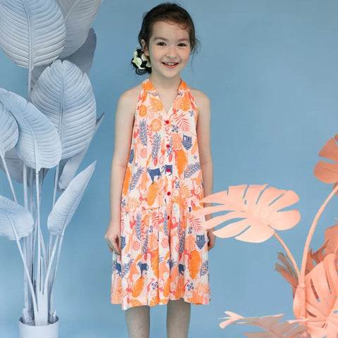 Elly Anna Dress - Jungle Book Peach
