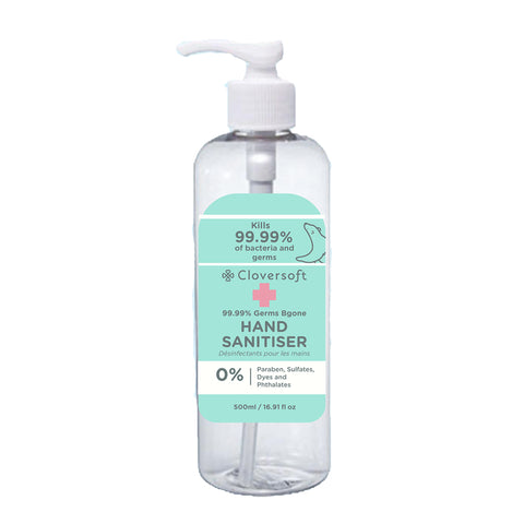 Cloversoft 99.99% Germs Bgone Hand Sanitizer 500ml