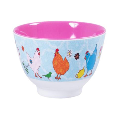 Rice Melamine Bowl Two Tone - Medium