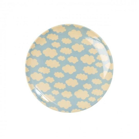 Rice Melamine Dessert Plate - Cloud