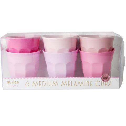 Rice 6pack Melamine Cup - Medium
