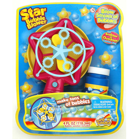 Rainbow Bubbles Star Bubble Blower