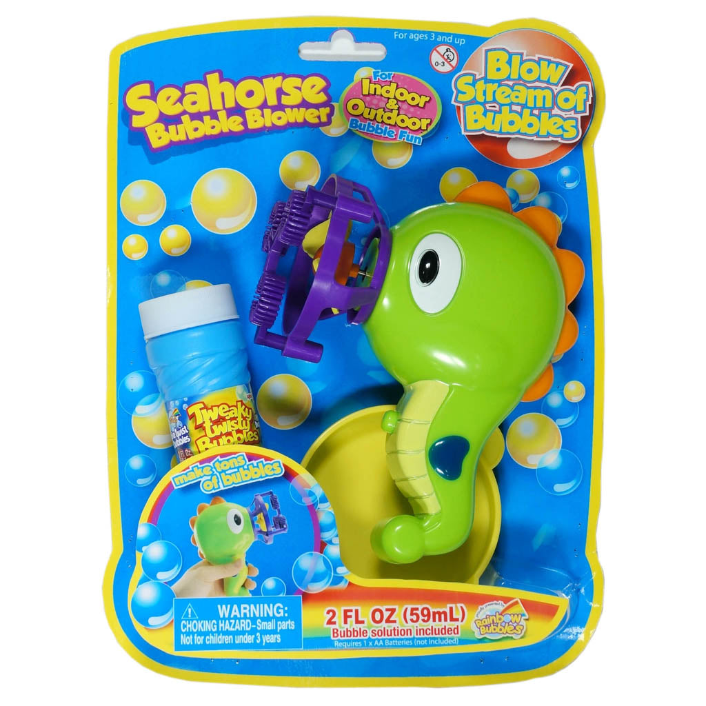 Rainbow Bubbles Seahorse Bubble Blower