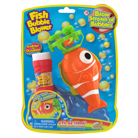 Rainbow Bubbles Clown Fish Bubble Blower