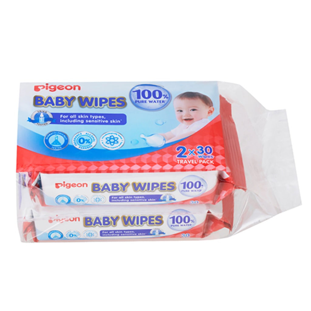 Pigeon Baby Wipes 30 Sheets 2 in 1