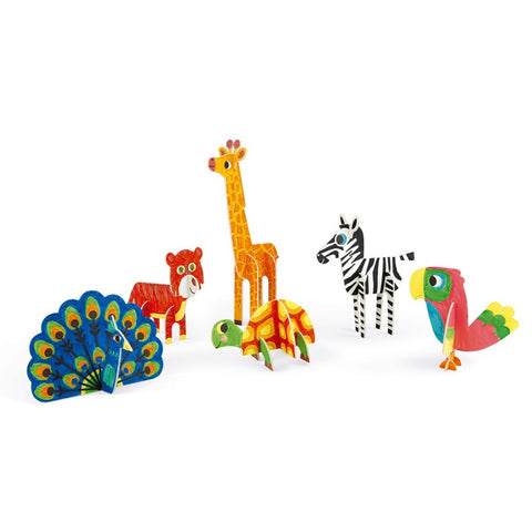 Janod 3D Animals To Colour