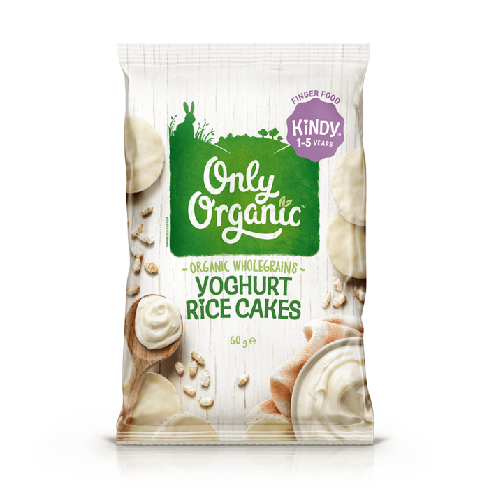 Only Organic Yoghurt Kindy Rice Cakes