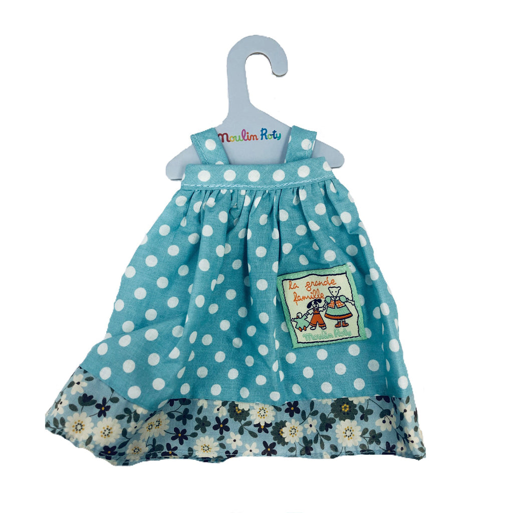 Moulin Roty Little Goose Jeanne Blue Dress Only