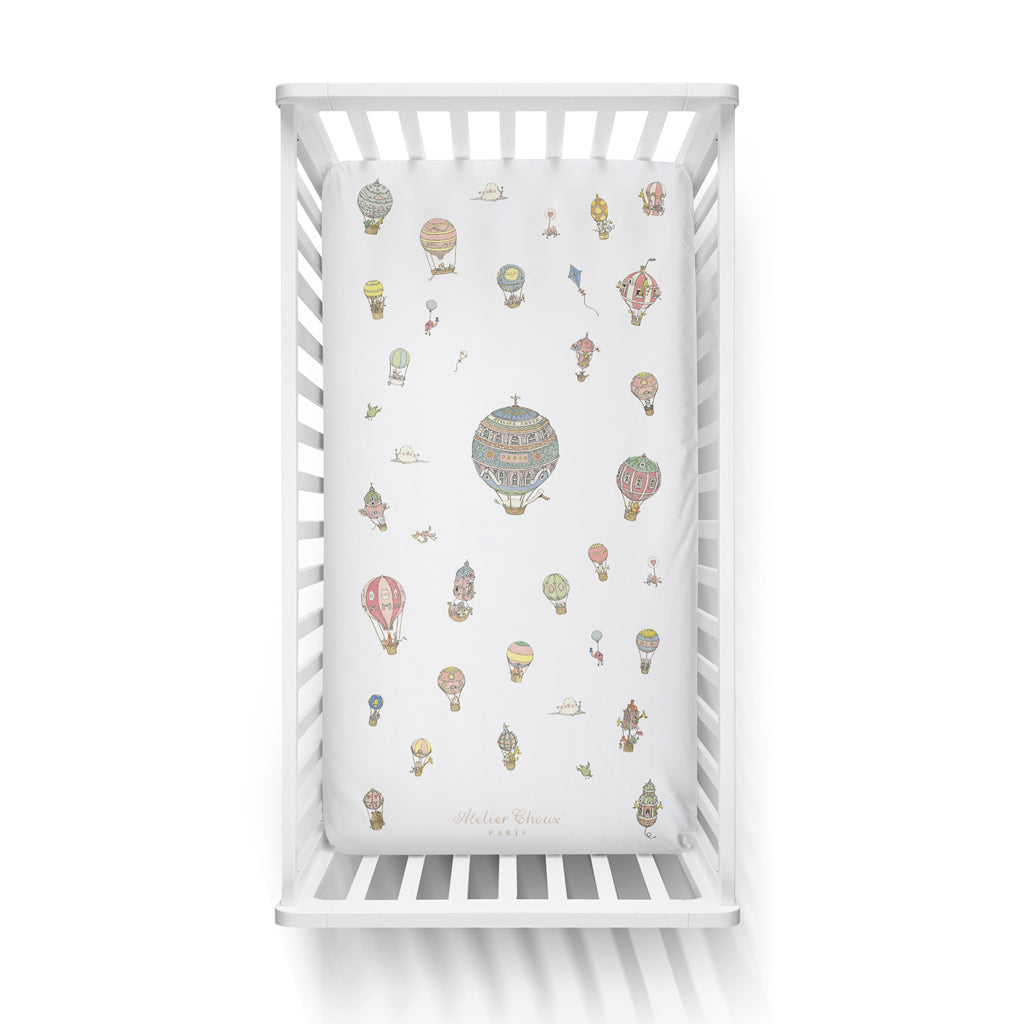 Atelier Choux Fitted Sheet - Hot Air Balloons