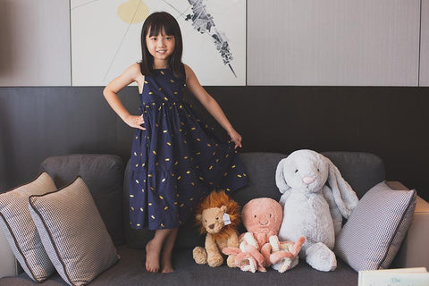 Elly Navy Dragonfly Alexis Summer Dress