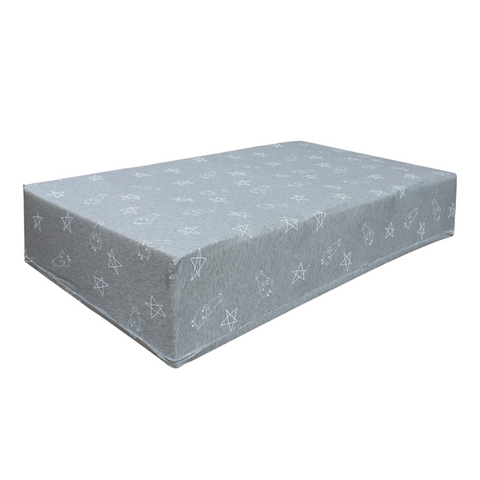 Baa Baa Sheepz Single Mattress Sheet Big Star & Sheep Grey