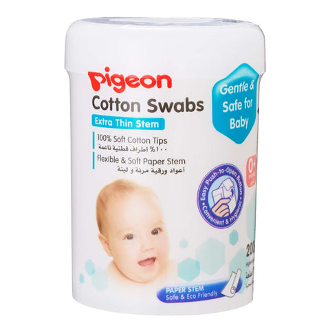 Pigeon Cotton Swabs Thin Paper Stem 200 Pcs