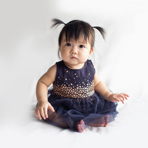 Elly Navy with Copper Star Luna Dress