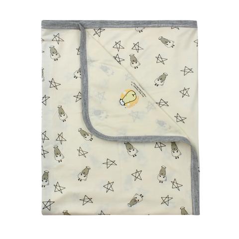 Baa Baa Sheepz Single Layer Blanket Small Star & Sheepz