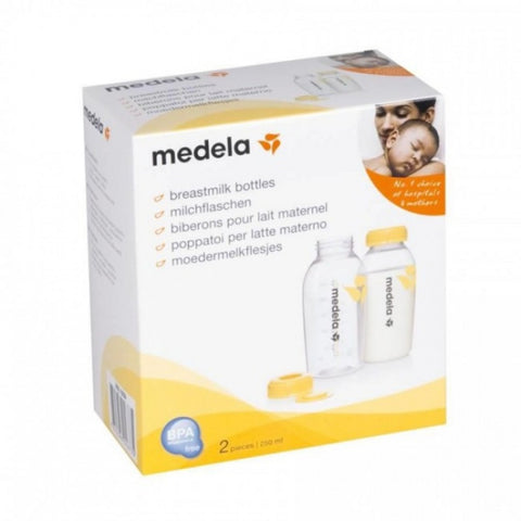 Medela 250ml Breast Bottle - 2 pack