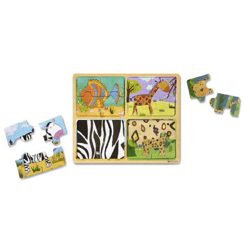 Melissa & Doug Natural Play Wooden Puzzle