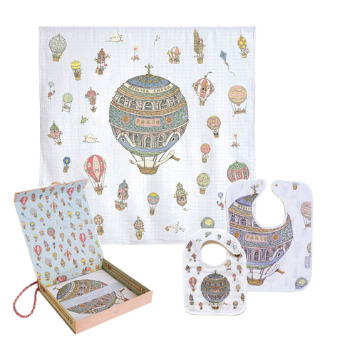 Atelier Choux Gift Set - Carre + Small Bib + Large Bib Bundle (With Box)