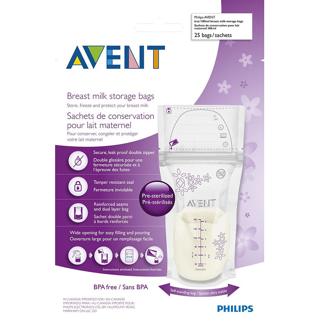 Avent Breast Milk Storage Bags - 25 Bags