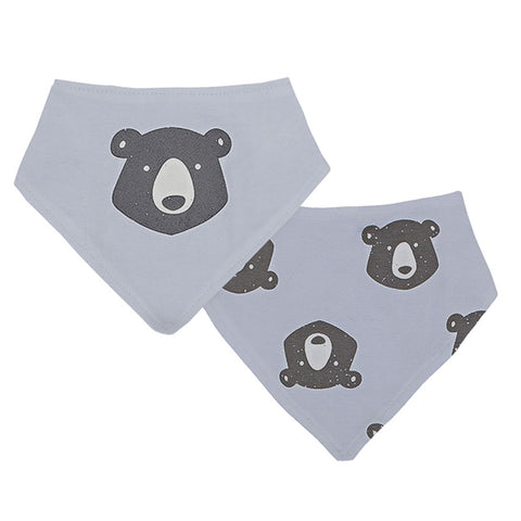 Kushies Bandana Bib 2 Pack - Bear