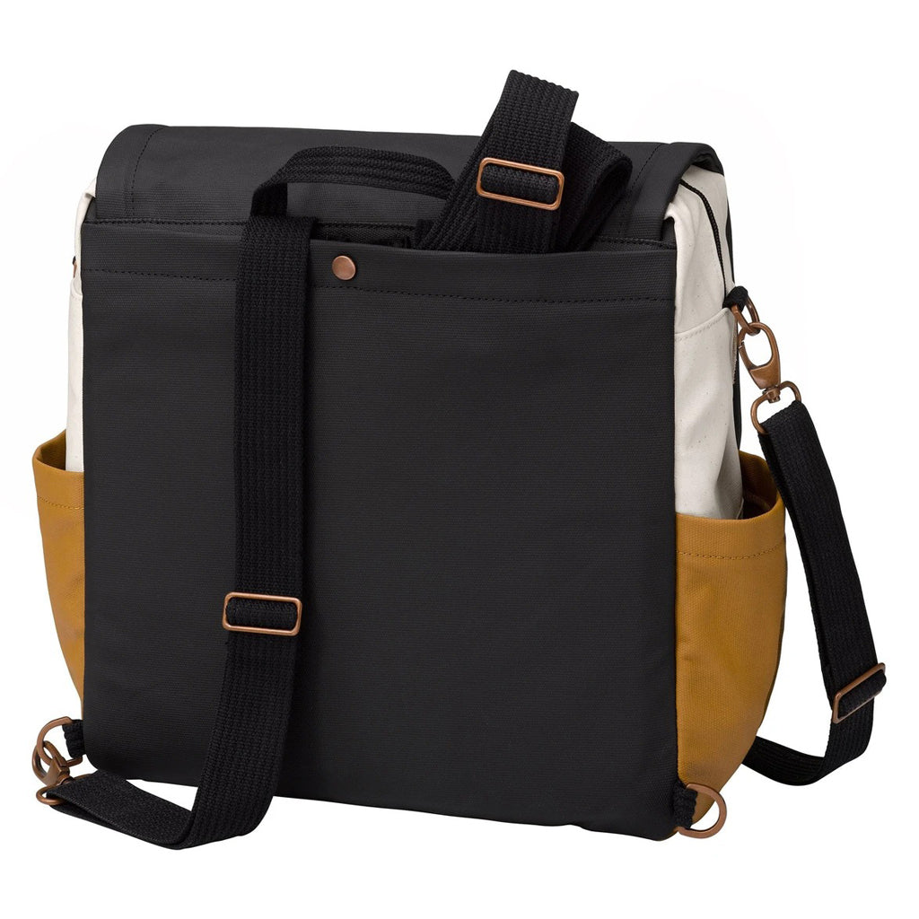 Petunia Pickle Bottom Boxy Backpack Caramel Black