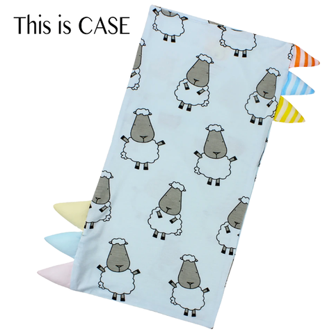 Baa Baa Sheepz Bed-Time Buddy™ Case Big Sheepz with Stripe Tag