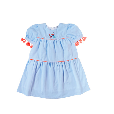 Sea Apple Spring Chatter Blue Smock Dress