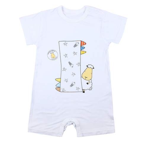Baa Baa Sheepz Short Sleeve Romper - My Buddy